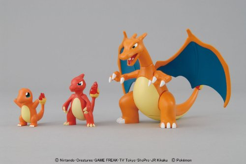 Bandai Action Figures Bandai Pokemon Evolution Plastic Modeling Kit Charmander