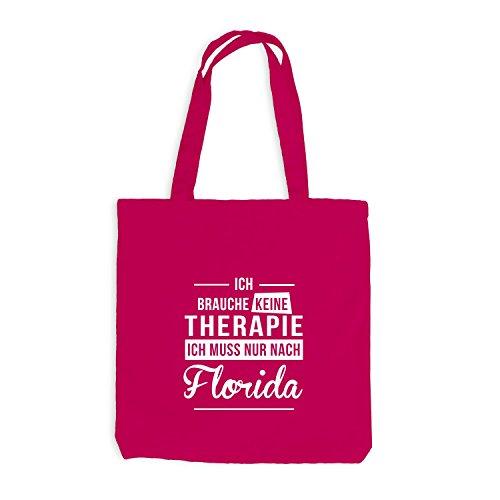 Monkiez Jutebeutel - Ich Brauche Keine Therapie Florida - Therapy Urlaub USA, Pink