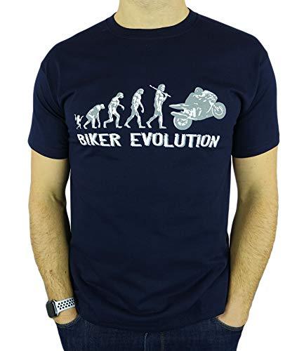 Motorbike/Superbike Moto GP Evolution - Regalo de cumpleaños Divertida Moto/Presente para Hombre de la Camiseta Azul Marino M