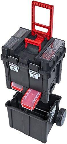 Patrol Group SKRWC1HDCZAPG001 Güde Werkzeugkoffer Trolley Multifunktionswerkzeugkiste Werkzeugkasten teilbar rollende Werkstatt, Schwarz