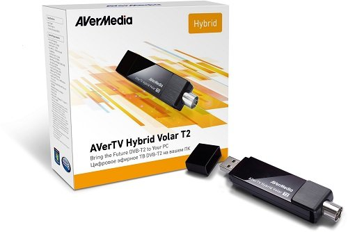 AVerMedia AVerTV Hybrid Volar T2 - Sintonizador de TV (DVB-T, USB, FM, Windows 7 Enterprise, Windows 7 Enterprise x64, Windows 7 Home Basic, Windows 7 Home Basic x64, Wind, S-Video)