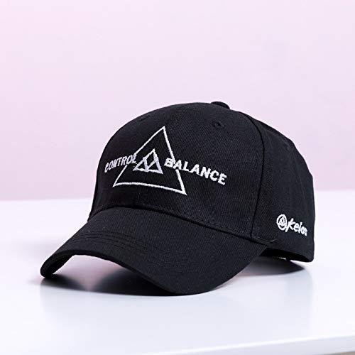 nfants Filles simples chapeaux de Soleil en Coton chapeaux visière Parent-Enfant chapeaux casquettes de Baseball Triangle - Enfants Noirs réglable 50-52CM -