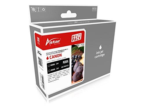 Preisvergleich Produktbild Astar AS42550 Tintenpatrone kompatibel zu CANON IP7250, 2 x 22 ml, schwarz