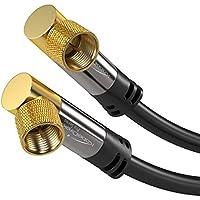 KabelDirekt Cavo SAT/TV ([2m Connettore F gomito a 90° su spina F Cavo coassiale supporta HDTV, DVB-T2, DVB-C, DVB-S, DVB-S2, PRO Series] adatto per [ricezione digitale, sia a quella analogica]) - Trova i prezzi più bassi su tvhomecinemaprezzi.eu