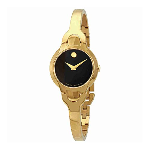 Movado Women's Gold Tone Steel Bracelet & Case Swiss Quartz Watch 0606936