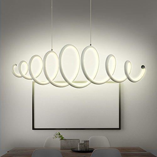 N3 Lighting Moderne Design LED Pendelleuchte Esszimmer, Pendellampe, Hängelampe, Esstischleuchte, Dimmbar, höhenverstellbar, Warmweiß, 56W, 88 x 22.3 x 140 cm