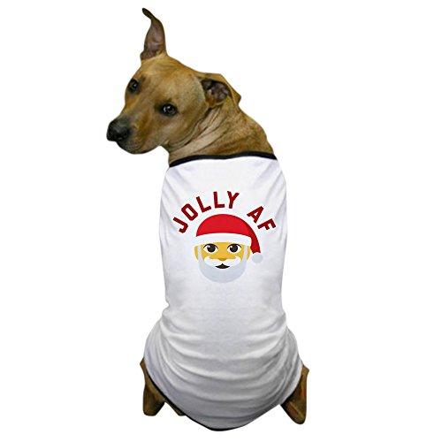 CafePress Emoji Jolly AF Hunde-T-Shirt