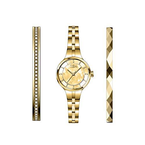 Invicta Angel Reloj de Mujer Cuarzo analógico Correa y Caja de Acero 29278
