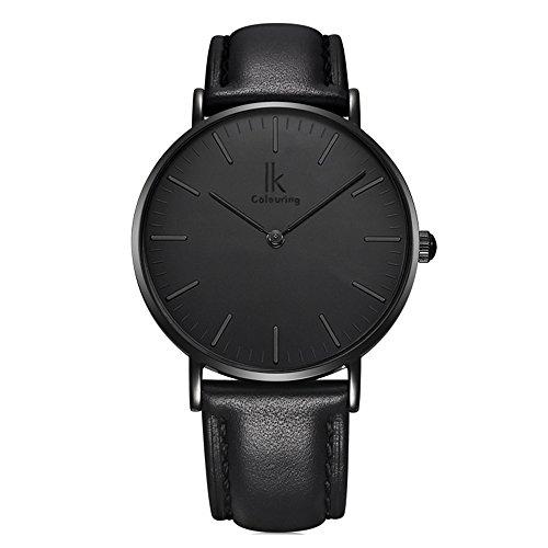 Mode-Lapidar-Kreativ-Leder-Uhrenarmband-Quarz-Damen-Armbanduhren