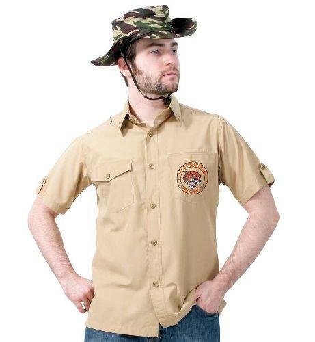 Kostüm Große Rambo - narrenwelt Piratenkapitän Hemd Männer der Dschungel Größe L