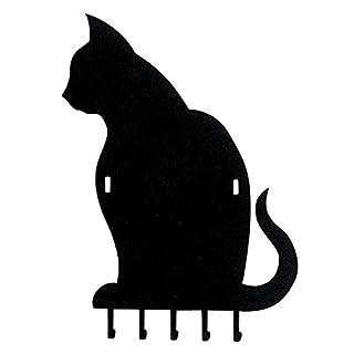 Arti e Mestieri Schlüsselbrett in Form einer Katze mit Haken, Farbe: schwarz