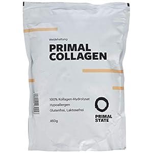 Kollagen Hydrolysat Peptide (natürlicher Kakaogeschmack)   Premium Proteinpulver PRIMAL COLLAGEN Protein   Pulver aus Weidehaltung   Typ I und Typ II   Lift Drink und Laborgeprüft   Kakao – 600g