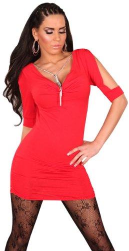 En style femme avec chaîne &wasserfalloptik taille unique (32–38) Rouge - Rouge