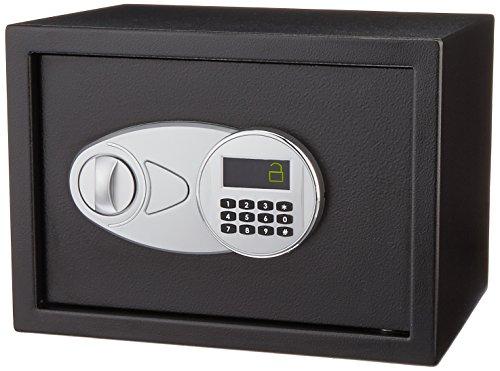 AmazonBasics Tresor, 14 l, Schwarz (Safe Mit Zahlenschloss)