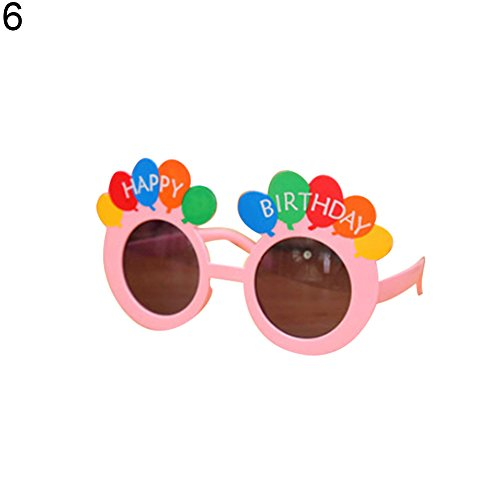 Timeracing Creative Funny Sonnenbrille Geburtstag Party Supplies Masquerade Kostüm Halloween Weihnachten Party Brillen Decor Kinder Spielzeug Geschenk Größe Ballon # (Pink)
