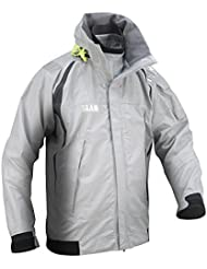 SLAM Force 4 Jacket Men's 25.000mm Waterproof Light Grey 3-LAYER NYLON RIPSTOP Highly-visible roll-away hood with reflective patch 2X-Large
