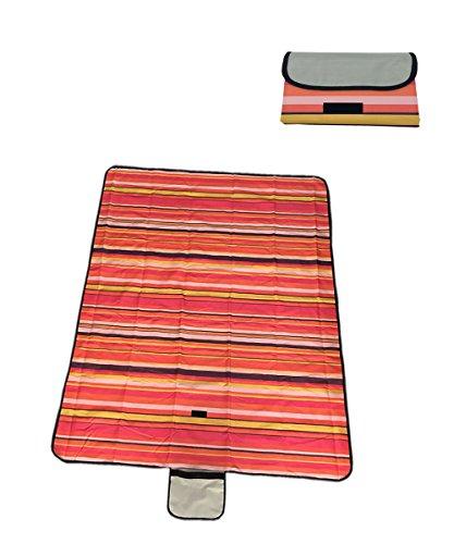 Honeystore Oxford Picknickdecke mit wasserabweisender Unterseite Rot 150*135