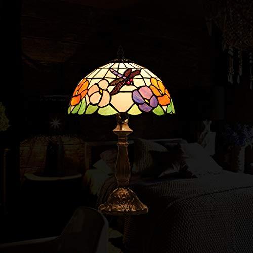 GJH-TISCHLAMPE Europäische Retro Hauptbeleuchtung Auge Tischlampe Glas Lampenschirm Mode Nacht Wohnzimmer Schlafzimmer Lampen (Größe : 51cmx30cm)