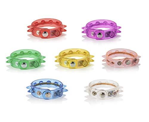 UltraByEasyPeasyStore 12 Paquet de Bracelets Spikey LED Clignotants Allumer en Plusieurs Couleurs Fille Garçon Adulte Enfants Homme Femme Rouge Blanc Rose Bleu Festival