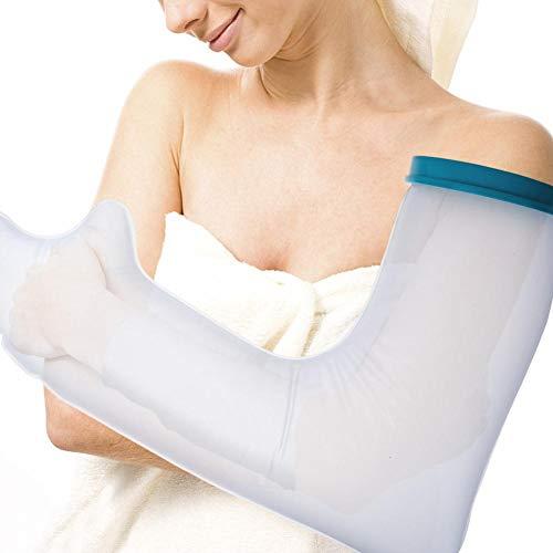 Alucy Waterproof Hand Cast Cover, Arm Cast Cover für Dusche und Bad - Adult Arm, wiederverwendbarer 100% versiegelter Wasserschutz, hält Gipsabdrücke und Verbände trocken (Cast Transparente)