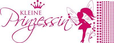 Wandtattoo Aufkleber Wandaufkleber für Kinderzimmer Spruch Kleine Prinzessin Fee (150x57cm//041 pink)