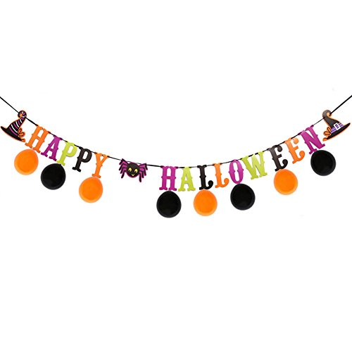 Alexis Decoración de Halloween Banners Globo de Dibujos Animados de Horror Papel Pull Flag Party Supplies KTV Bar Decoración DIY Colgando Bandera