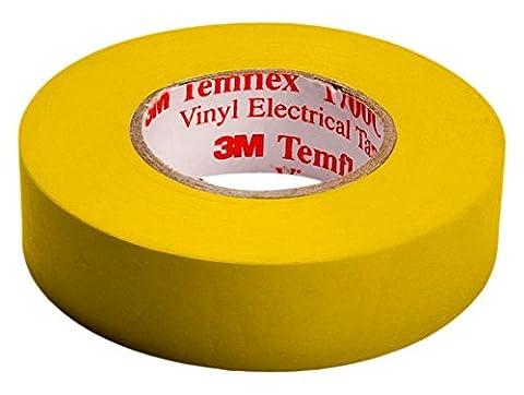 3M TGEL1510 Temflex 1500 Vinyl Elektro-Isolierband, 15 mm x 10 m, 0,15 mm, Gelb - 3 Metri Nastro Isolante Elettrico