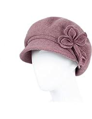 Sombrero Mujer Otoño E Invierno Sombrero Femenino De Media Edad Sombrero Color Solitario Boinas Invierno Madre Sombrero ( Color : Pink )