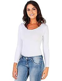 KRISP Damen Body Bodysuit Langarm Basic