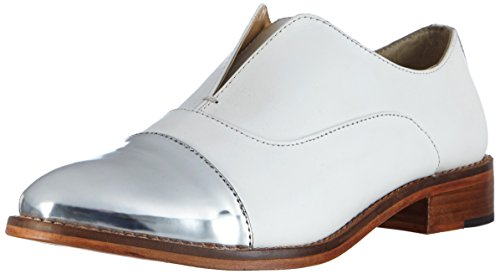 Buffalo 1058-07 T Cow Mirror, Mocassins femme Blanc - Weiß (WHITE 17)