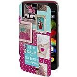 Akashi ALTRAINL94723 Etui folio pour Wiko Rainbow Lite Motif Shopping
