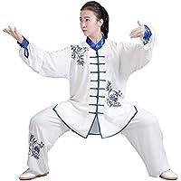 SCDXJ Tai Chi Uniforme Algodón Chino Kung Fu Artial Arts Wear,Blue-L