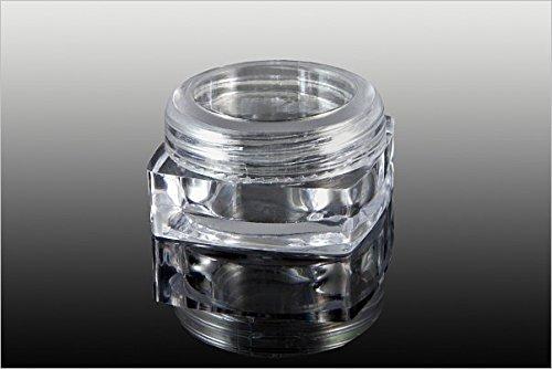 NEW Nail Art Pots en 1 x boîte vide avec fermeture à vis 3 ml, boîte de rangement transparent Boîtes accessoires