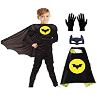 FDF Super hero Muscle Fancy Dress Costumes with Gloves and cape for Kids (Plz see the size in dropdown)