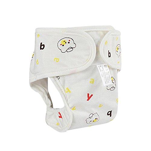 Windeln Wiederverwendbar Hirolan Waschbare Babywindeln Säugling Windelhose Baby-Tuch-Windel Weicher Stoff Größe Verstellbar Neugeborenes Mädchen Jungen Drucken Tuch Snap Windel (Gelb, S/0-6M) (Band Mikrofaser-shorts)