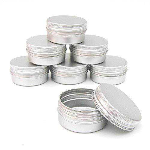 Lopbinte 12 X 50Ml Aluminium Kosmetik Kübel 50Ml Fassungs Verm?gen Kleine Kleine Kosmetik/Kerze/Gewürz Glas Krug Pott Aluminium-krug