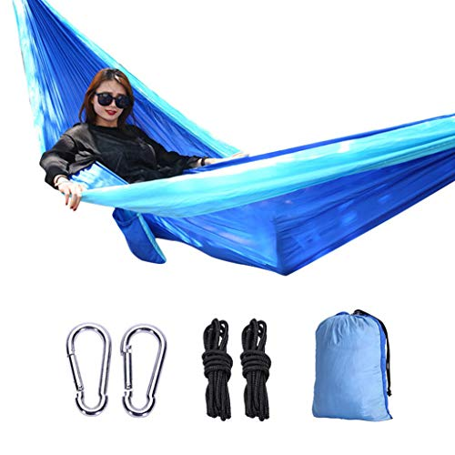 Camp Sleeping Gear Steady Profession 7 Colors Carrying Nylon Cloth Parachute Hammock Garden Camping Survival Hunting Leisure Travel Hammock Double 270*140