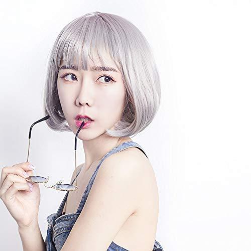 Xiaoqin Women's Bob Kurze Perücke schwarz Farbe Hitze Resist Cospaly Party Perücke