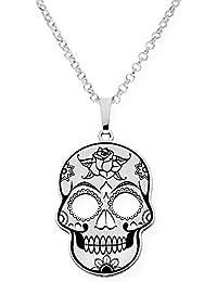 e5f958aa2e SilverSteel pendente in Argento Teschio messicana