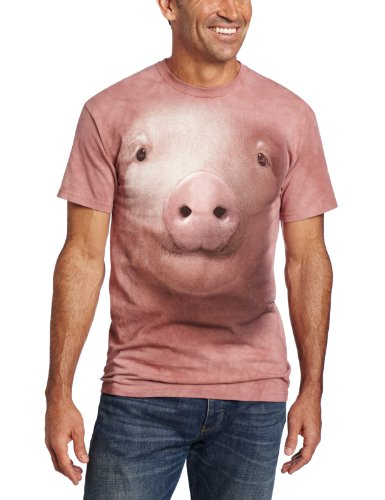 The Mountain Unisex Erwachsen Gr. S Schwein Gesicht T Shirt (T-shirt Schwein-erwachsenen)