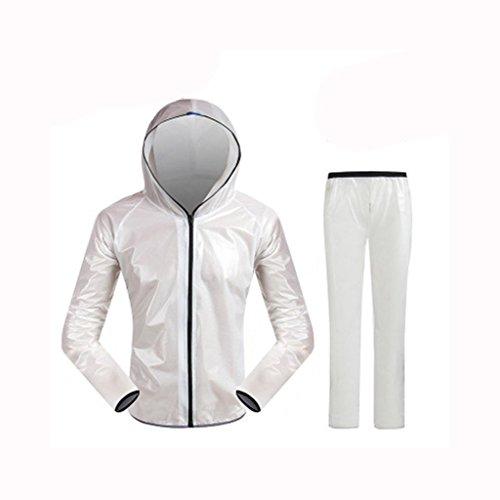 GBR ALXC- Radfahren Regenmantel Sport Bike Riding Anzug Windbreaker Fahrradbekleidung Laufvoll Ärmel Jacke Regen wasserdicht Kleidung (Farbe : B, größe : XXL)