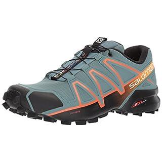 Salomon Men's Speedcross 4 Trail Running Shoes, Grey (North Atlantic /black/scarlet Ibis), 8.5 UK