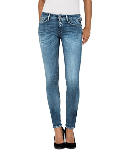 Replay Damen Skinny Jeans Luz Blau (Medium Blue 9) W25/L30