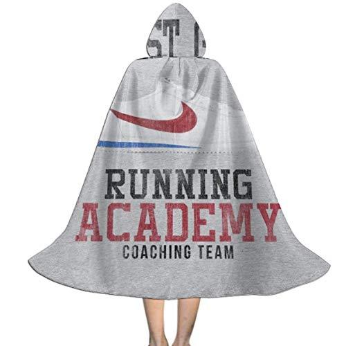 NUJSHF Forrest Gumps Running Academy Coaching Team Unisex Kapuzenumhang Umhang Umhang Cape Halloween Weihnachten Party Dekoration Rolle Cosplay (Halloween Team Kostüm)