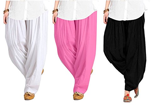 Spangel Enterprise Women's Soft Cotton Full Stitched Ready made Patiala Pants Bottom...