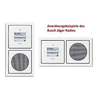 Busch Jäger Unterputz UP WLAN iNet Internetradio 8216 U (8216U) studioweiß Future Komplett-Set // Radioeinheit + Lautsprecher + 2-fach Rahmen + Abdeckungen