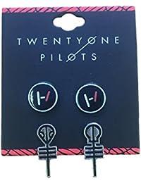 21 Twenty One Pilots Earring set x 2 band logo clique blurryface nouveau