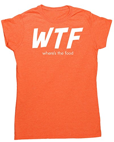 Hippowarehouse apos;s The Food? Damen Fitted Short Sleeve T-Shirt Gr. Large, Orange (Heather Orange) (Fitted T-shirt Cupcake)