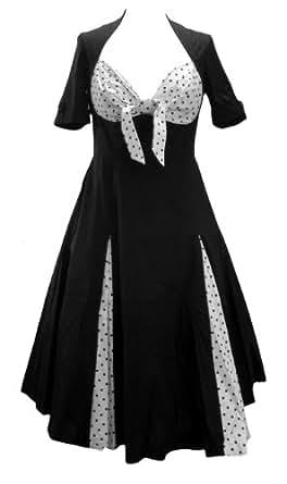 Polka Dot Sweetheart Rockabilly Swing Jive Bunny Dress. Size 6-8