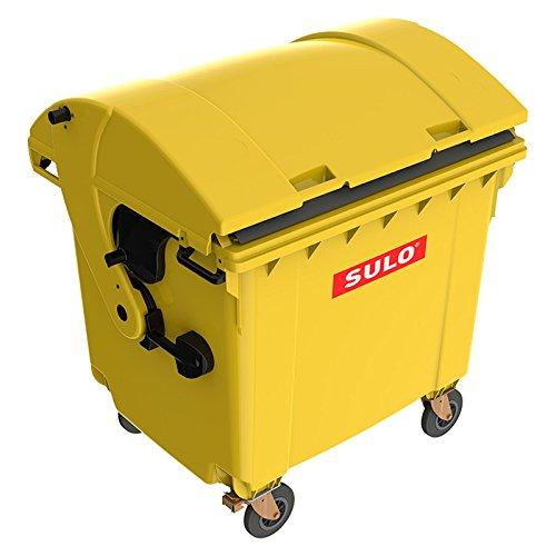*1100 Liter Großmüllbehälter / Müllcontainer nach EN 840, MGB gelb*